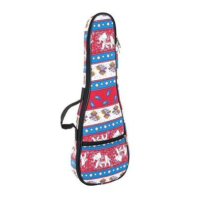 Tom and Will colourful pattern tenor ukulele case with elephants (Indian design)