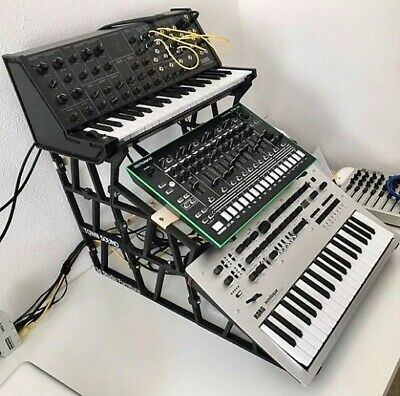 Stand korg minilogue, roland tr-8 and korg ms-20 mini ( Custom stand synth )