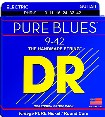 DR Pure Blues Electric Guitar Strings 9-42