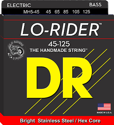 DR Lo-Rider Bass Guitar 5-Strings 45-125