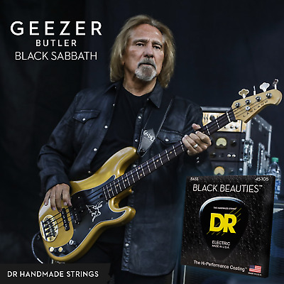 DR Black Beauties Colour Coated Bass Guitar Strings 45-105