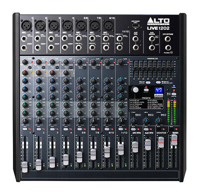 Alto Live 1202 12 Channel Mixing Desk (NEW) • 217.98£