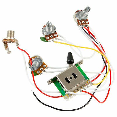 Guitar Wiring Harness Kit 5 Way Switch 1V2T 500k Pots For Fender Strat • 5.87£