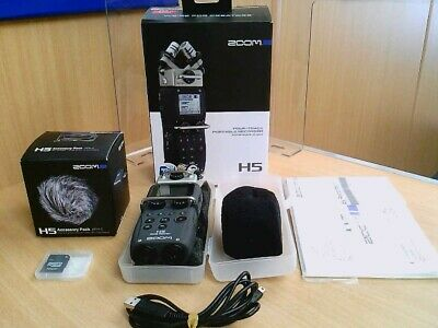 BOXED Zoom H5 Portable Four Track Recorder W/ APH5 Accessory Pack & 2gb SD Card • 85£