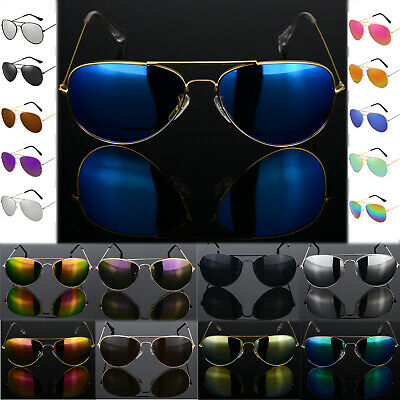 Pilot Style Sunglasses Fashion 80s Retro Designer Shades Mens Womens Ladies • 0.99£