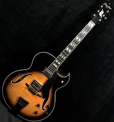 PEERLESS CREMONA 17  CARVED BLONDE LCES ARCHTOP Guitar2 HB W Case • 1,926.86£