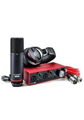 Focusrite Scarlett 2i2 Studio 3rd Gen USB Audio Interface Latest Model RRP £249 • 218.99£