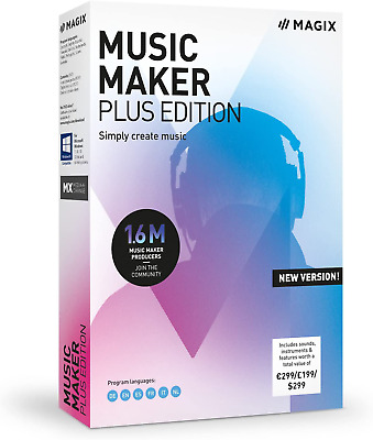 MAGIX Music Maker - 2019 Plus Edition - Produce, RECORD And Mix Music • 42.21£