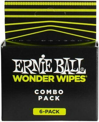 Ernie Ball Wonder Wipes Combo Pack - 3 String Cleaners, 2 Polishes, 1 6  • 5.34£