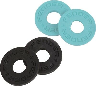 Genuine Fender Strap Blocks Set, 4-Pack, Black (2) Daphne Blue (2) 099-0819-010 • 4.83£