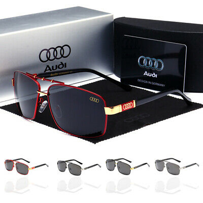 AUDI Sunglasses Polarized Driving Men's Lens Glasses UV400 Gift With Brand Box • 12.59£