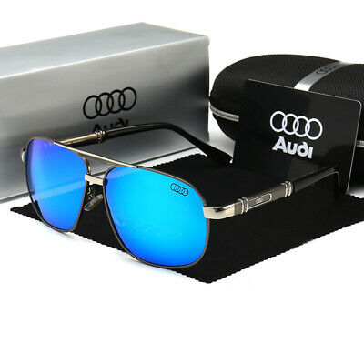2020 Audi Sunglasses Polarized UV400 Men Lens Glasses Vintage Retro Pilot Hot • 9.79£