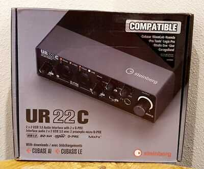 Steinberg UR22C 2IN/2OUT USB 3.0 Type C Audio Recording Interface W/ Extras NEW • 145.09£
