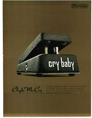 2014 Clyde McCoy CRY BABY WAH Guitar Effects Pedal Dunlop Magazine Ad  • 7.16£