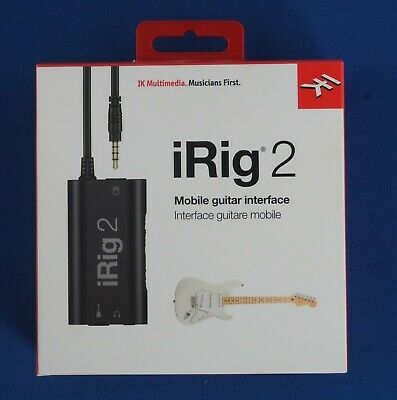 IK Multimedia IRig 2 Guitar Interface For IPhone IPod Touch IPad Etc. • 25£