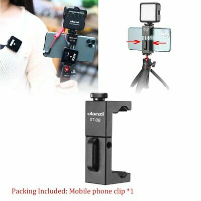 NEW Wireless Mic Phone Holder For VLOG RODE Wireless Go W/ Cold Shoe Phone Clip • 9.67£