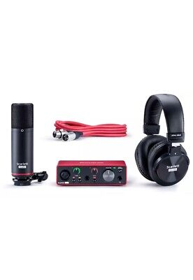 Focusrite Scarlett Solo Studio 3rd Gen USB Audio Interface Condenser Microphone • 189.99£