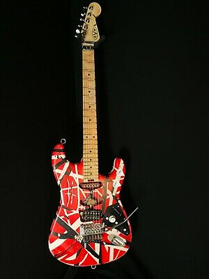 EVH Striped Series Frankenstrat Relic/Moded  Guitar- Red/Black/White Watch Vid🔥 • 1,430£
