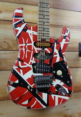 New EVH® Striped Series Frankie Electric Guitar Red With Black And White Stripes • 1,438.48£