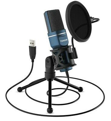 USB Microphone, TONOR Computer Condenser PC Gaming Mic With Tripod Stand & • 14.38£