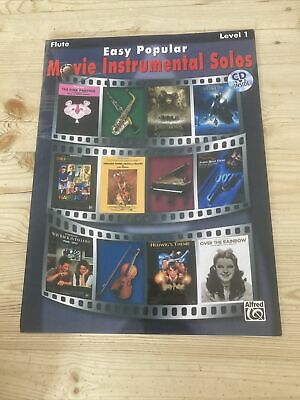 Easy Popular Movie Instrumental Solos: Flute, Book & CD by Alfred Publishing...