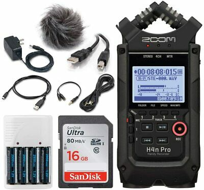 Zoom H4n Pro 4-Input/4-Track Portable Handy Recorder With Onboard X/Y Mic + For