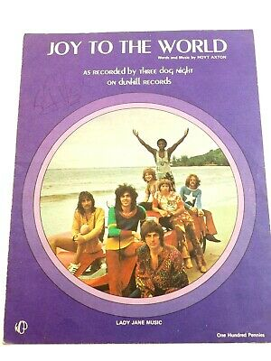 Joy to The World Autographed Sheet Music 1970