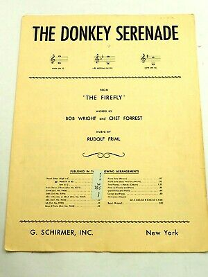 The Donkey Serenade from the Firefly Sheet Music 1937