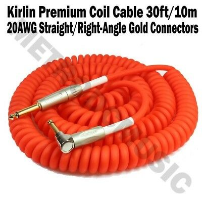 Kirlin 30ft Premium Coil Cable 1/4