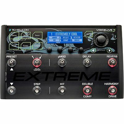 TC Helicon Voicelive 3 Extreme Vocal/Voice & Guitar Effects Processor NEW! • 644.50£