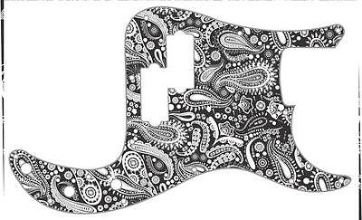P Bass Pickguard Scratchplate Fender 13 Hole Guitar Pick Guard Paisley BK-WH • 31.27£