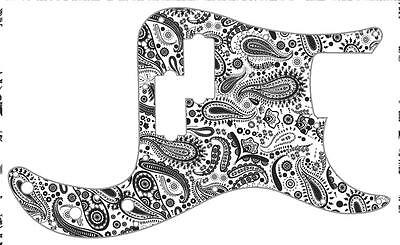 P Bass Pickguard Scratchplate Fender 13 Hole Guitar Pick Guard Paisley WH-BK • 31.27£