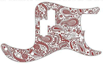 P Bass Pickguard Scratchplate Fender 13 Hole Guitar Pick Guard Paisley WH-RD • 31.27£