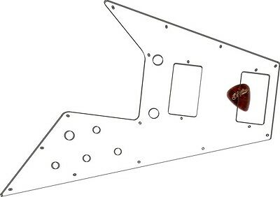 Pickguard Pick Guard Scratchplate Gibson Flying V Guitar Clear Transparent NEW