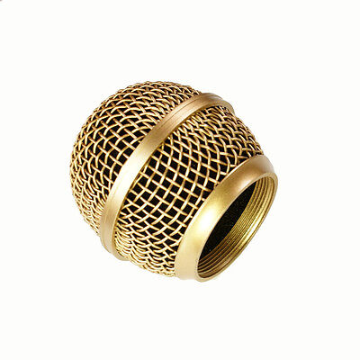 Mesh Microphone Grille For Shure SM58 565SD LC Microphone ,Copper Plated • 7.62£