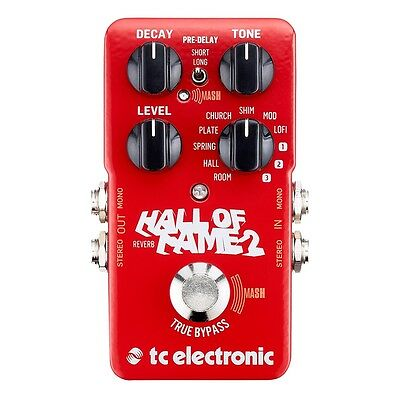 TC Electronic Hall Of Fame 2 Reverb Guitar Effects Pedal • 113.56£