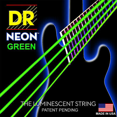DR Strings K3 NEON Hi-Def GREEN Electric BASS NGB-40 40-100