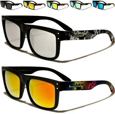 Designer Biohazard Sunglasses Big Pilot Mirrored Flat Top Uv400 Ladies Mens • 9.99£