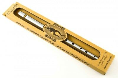 Clarke Original TIN WHISTLE Key: D (Silver) Made in England