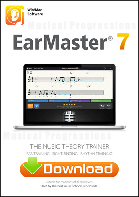 Earmaster 7 - Win Mac Digital Software - Master Ear Training - Music Theory NEW • 40.90£