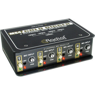 Radial Engineering Gold Digger 4-Channel Mic Selector New 2 Day Delivery • 253.25£
