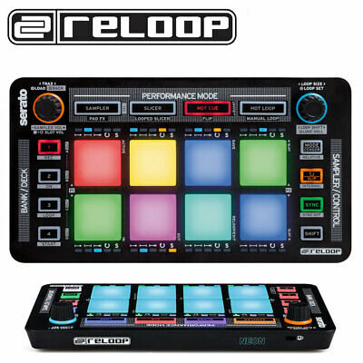 Reloop Neon 4 Channel Plug And Play Performance USB Pad Controller For Serato DJ • 89.99£