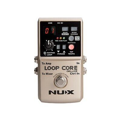 Nux Loop Core Deluxe Looper True Buffer Bypass Guitar Effects Pedal • 108.53£