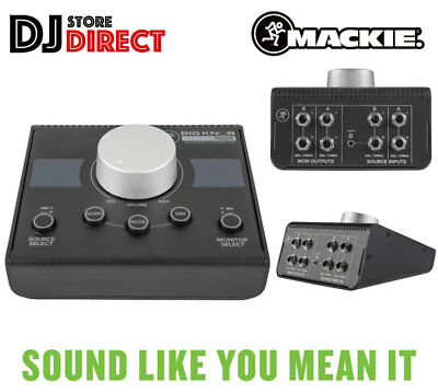 MACKIE BIG KNOB PASSIVE Compact 2X2 Studio Monitor Controller Interface USB TRS • 89£
