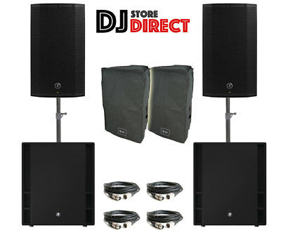2X MACKIE THUMP 12 Active Powered Speaker + 2X Thump 18S Subwoofers + Cover XLR • 1,699£