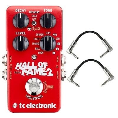 TC Electronic Hall Of Fame 2 Reverb Guitar Effects Pedal With Patch Cables • 113.56£
