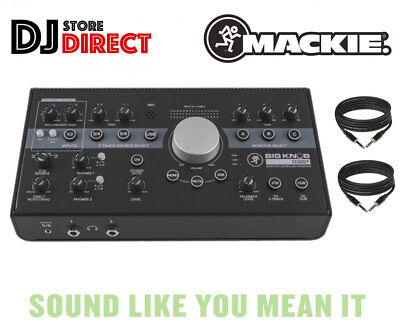 MACKIE BIG KNOB STUDIO+ PLUS Monitor Controller & USB Interface 2 FREE TRS LEADS • 289£