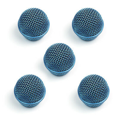 5x Mesh Microphone Grille For Shure SM58 565SD LC Microphone ,Blue • 22.88£