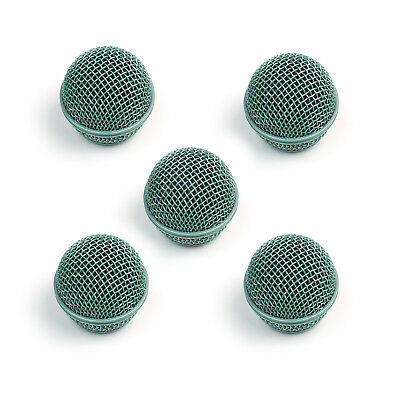 5x Mesh Microphone Grille For Shure SM58 565SD LC Microphone ,Green • 22.88£