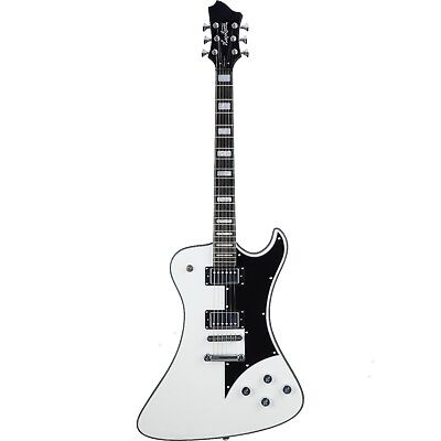 Hagstrom Fantomen Electric Guitar, All Mahogany, Resinator Board - White Gloss • 786.64£